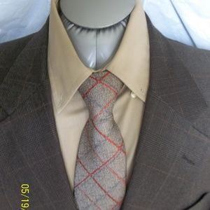 Caribe45- Burberrys 2Btn Brown Check Suit
